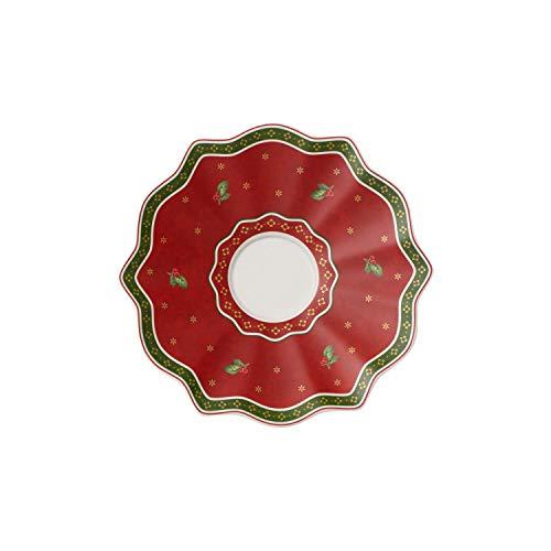 Villeroy & Boch Toy's Delight Sous-tasse rouge, 19 cm, Porcelaine Premium