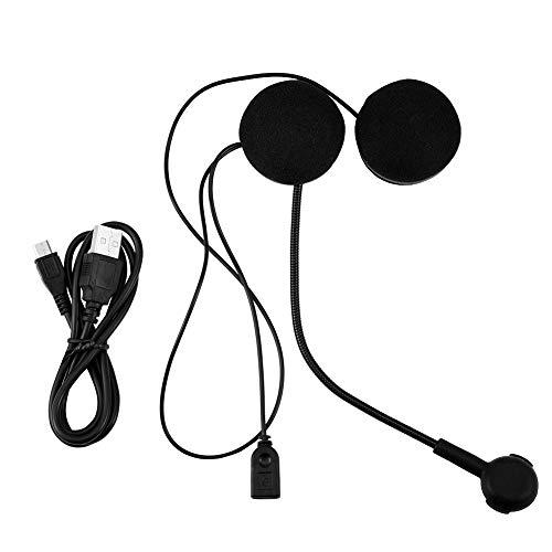 Tihebeyan Altavoces de Casco de Alta definición, Auriculares estéreo inalámbricos HiFi Bluetooth Casco de Motocicleta Auricular Bluetooth Casco Manos Libres Comunicación para Moto