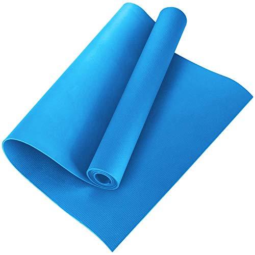 Esterilla de yoga de nivel de entrada,esterilla de danza, manta de ejercicio de fitness,protección del medio ambiente para entrenamiento al aire libre para el gimnasio(173 x 60 x 0,6 cm)