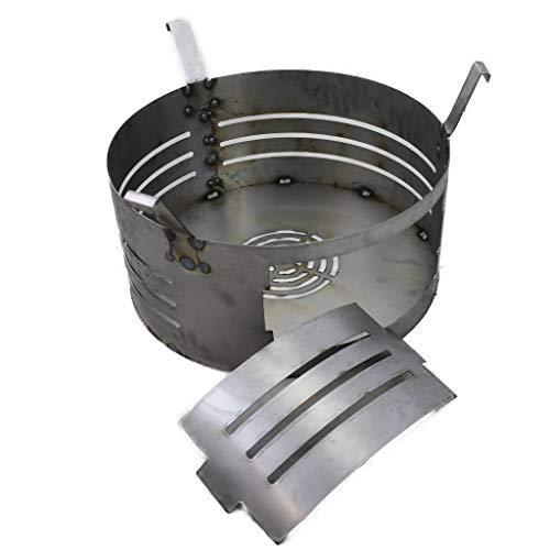 A. Weyck Tools Universal Multifunktionstonne Feuertonne Dutch Oven Grill Feuerplatte Pizza Feuerkorb Stahlfass BBQ (Feuerkorb 15)