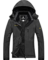 GEMYSE Women's Mountain Waterproof Ski Snow Jacket Winter Windproof Rain Jacket (Iron Grey,Large)