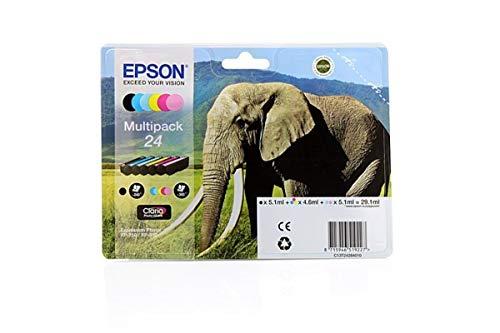 Epson original - Epson Expression Photo XP-55 (24 / C 13 T 24284010) - Tintenpatrone MultiPack schwarz,cyan,magenta, gelb,Foto-cyan,Foto-magenta - 360 Seiten