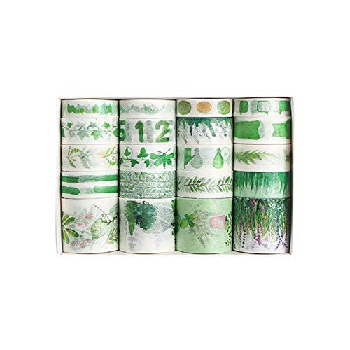 MOPOIN Washi Tape Set, 20 Rolls Deko Klebeband Masking Tape Multi-Pattern Dekoratives Klebeband Adhesive Tape Decorative für Bastler, Verschönert Journals, Planer, Scrapbooking, Kunst und Heimwerker