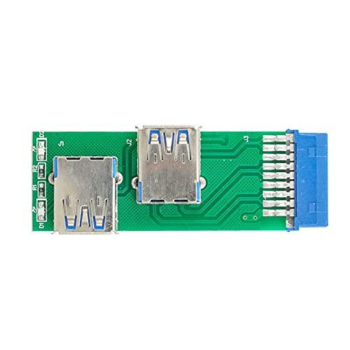 Xiwai Doble lado USB 3.0 A tipo hembra a placa base 20Pin 19 Pin caja ranura adaptador PCBA con LED