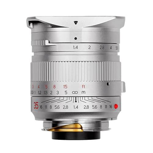 TTArtisan - Obiettivo 35 mm F1.4 compatibile con fotocamere Leica M-M M240 M3 M6 M7 M8 M9 M9p M10