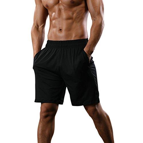 MuscleMate Premium Mens Workout Training Shorts, Ultralight, Ultrasoft, Mens Gym Workout Running Sports Training Shorts (XXL, Black)