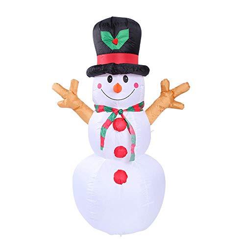 YANKAN Selbstaufblasbare Dekoration Weihnachtsbeleuchtung • Gartendekoration LED-Beleuchtung,(Weihnachten Aufblasbare Schneemann Gas-Modus 1.6 M)