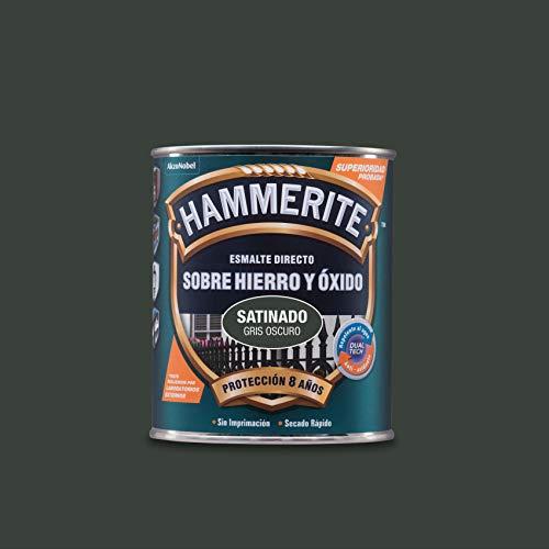 Hammerite Esmalte Directo sobre Hierro y Óxido Satinado Gris Oscuro 750 ml