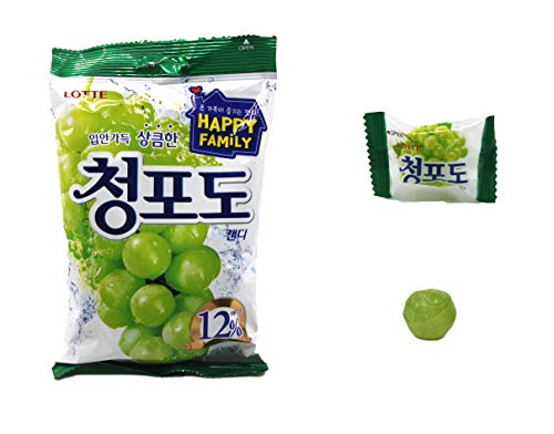 Korean Candy K FOOD Green Grape Flavor Hard Candy (153g 5.39oz)