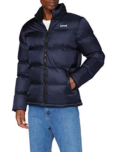 Schott nyc Idaho Jacket Homme, Bleu (Navy), L