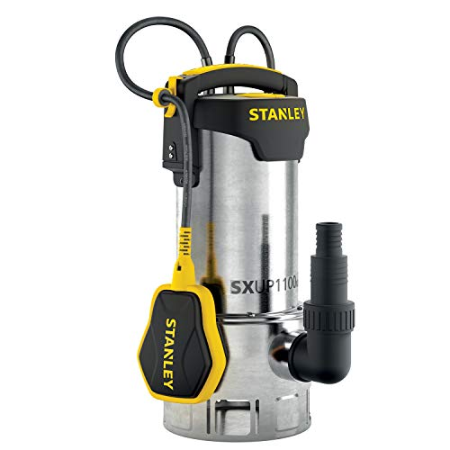 STANLEY SXUP1100XDE Pompa Immersione per Acque Scure (1.100 W, Portata max. 16.500 l/h, Prevalenza max. 10,5 m)