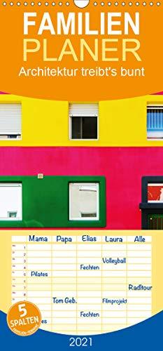 Architektur treibt's bunt - Familienplaner hoch (Wandkalender 2021, 21 cm x 45 cm, hoch)
