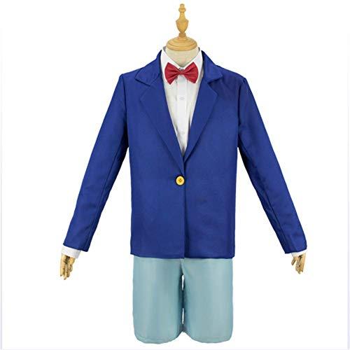 CDSVP Kleid Anime Costume Detective Cosplay Kostüm Kostüm Anzug Party Kostüm Für Erwachsene Kleidung + Hosen + Fliege + Hemd + Brille,L