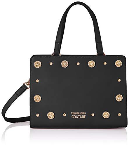 Versace Jeans Couture Damen Bag Henkeltasche, Schwarz (Nero), 7x18x24 centimeters