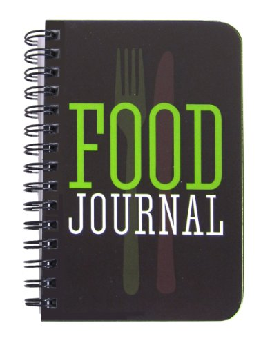 BookFactory Food Journal/Food Diary Logbook/Diet Journal Notebook/Book, 120 Pages - 3 1/2 x 5 1/4' (Pocket Sized), Durable Thick Translucent Cover, Wire-O Binding (JOU-120-M3CW-A (Food))