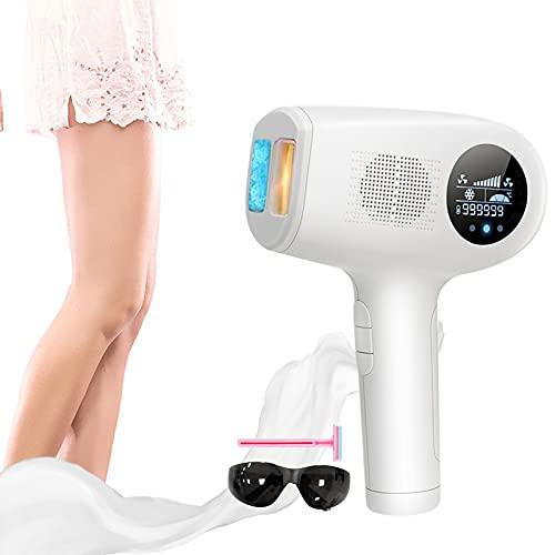 4YANG IPL Dispositivo de depilación, con sistema de enfriamiento de hielo, dispositivo IPL de depilación láser indoloro, depilación corporal y facial de 999,999 flashes para mujeres y hombres