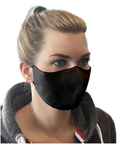 7 Stk. CINNEA® Mund- & Nasenmaske Community-Maske Behelfsmaske Behelfsmundschutz (schwarz)