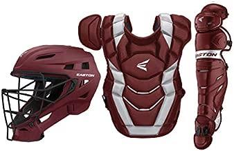 EASTON ELITE X Baseball Catchers Equipment Box Set, Youth, Maroon