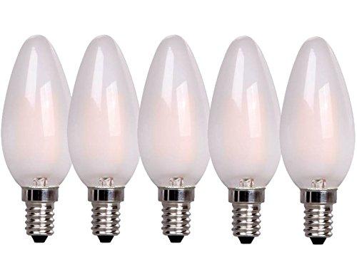 Preisvergleich Produktbild XQ-lite 5-er Pack LED-Filament Glühkerze E14 2 W ersetzt 20 W,  190 lm,  warm weiß XQ1401-5