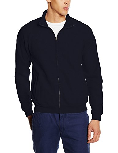 Fruit of the Loom Herren Zip Front Classic Sweatshirt, Dunkles Marineblau, XL