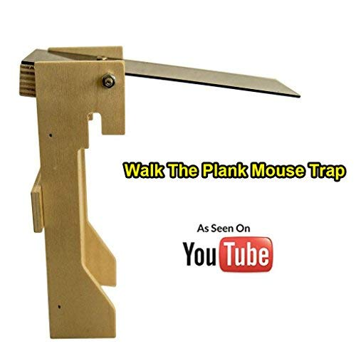 Jeremywell Walk The Plank Auto Reset Mouse Trap - As Seen on YouTube - Kill/No Kill Trap for Mice, Rats, Rodents & Other Pests - Humane Non-Poison