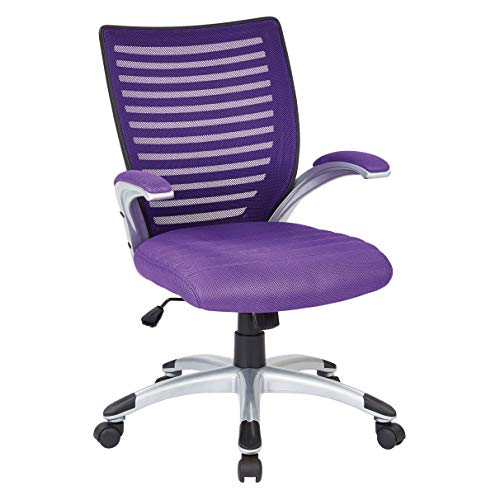 Work Smart Mesh Seat and Screen Back Managers Chair, Purple