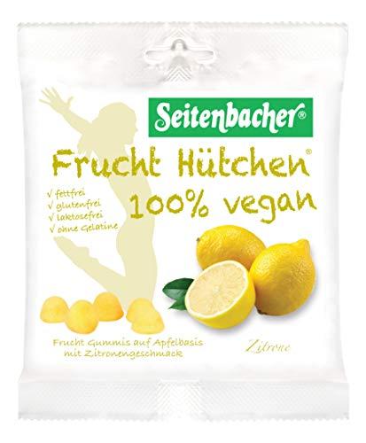 Seitenbacher 100 Prozent Vegan Frucht Hütchen Zitrone, 10er Pack (10 x 85 g)