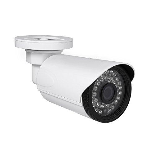 Revotech HD 3MP Cámara de Seguridad IP PoE para Exteriores, Cámara Bala Impermeable ONVIF 1080P P2P IR LED Visión Nocturna CCTV Videovigilancia Lente de 3.6mm H.265 H.264 (I6038-P Blanco)
