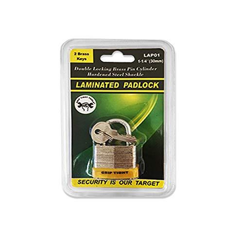 Grip Tight Tools Laminated Padlock, 1-1/4-Inch