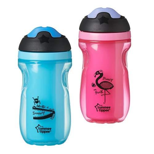 Tommee Tippee Isolierter Trinkbecher mit Weichem Ausguss, 12+ Monate, BPA-Frei, sortiert Farben, Design kann variieren, 1 Stück
