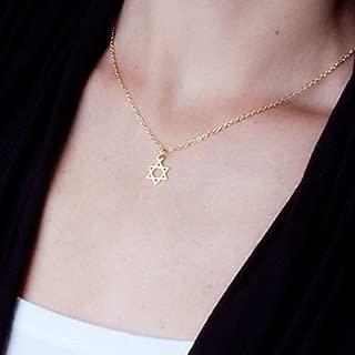 Gold Filled Star of David Necklace - Jewish Magen David Handmade Jewelry 16 inch + 2 inch Extender