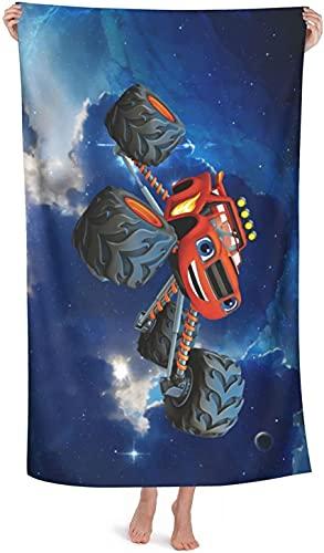 SL-YBB Blaze and The Monster Machines - Toallas de playa de microfibra, secado rápido, para piscina, regalos para niños (4,75 x 150 cm)