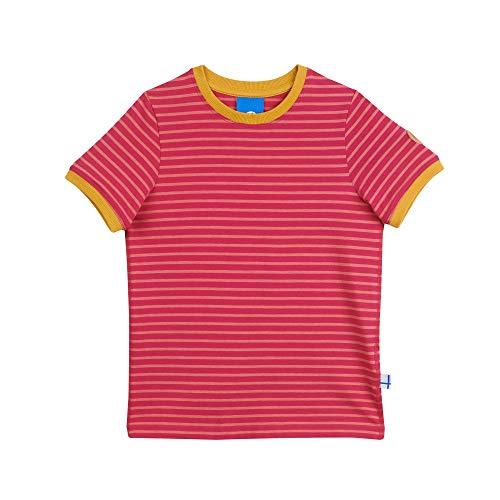 Finkid Renkaat T-Shirt Raspberry/Rose - gestreiftes Kurzarm-Shirt Kinder (80/90)