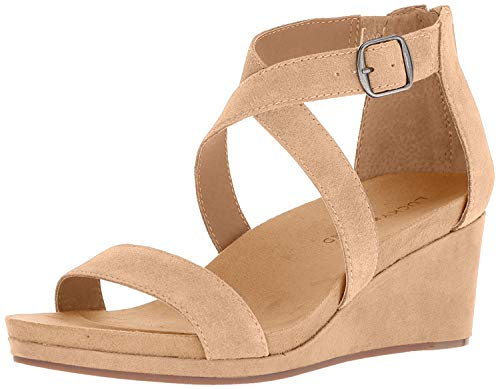 Lucky Brand womens Wedges sandals, Sesame, 11 US