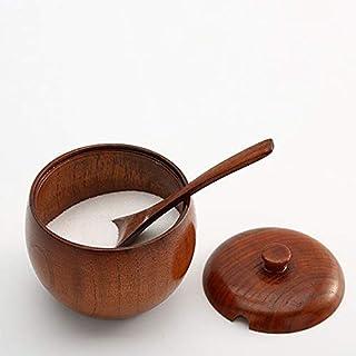 Pour la cuisine Rangement et organisation Jar bois Creative Vintage Spice cuisine, Type: salière + cuillère