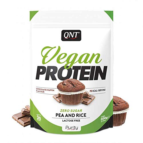 QNT Vegan Protein, Chocolate Muffin, 1er Pack (1 x 500 g)