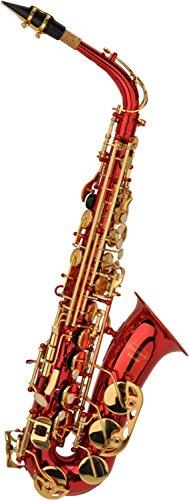 Steinbach Eb Alt-Saxophon in Rot mit hohem FIS