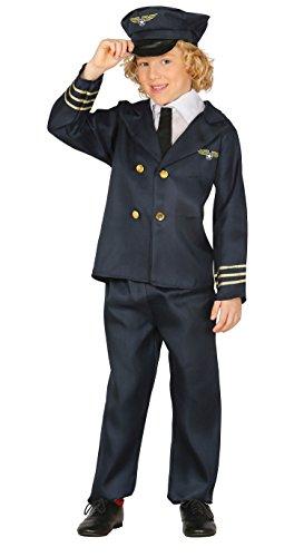Guirca- Disfraz piloto areo, Talla 7-9 aos (81382.0) , color/modelo surtido