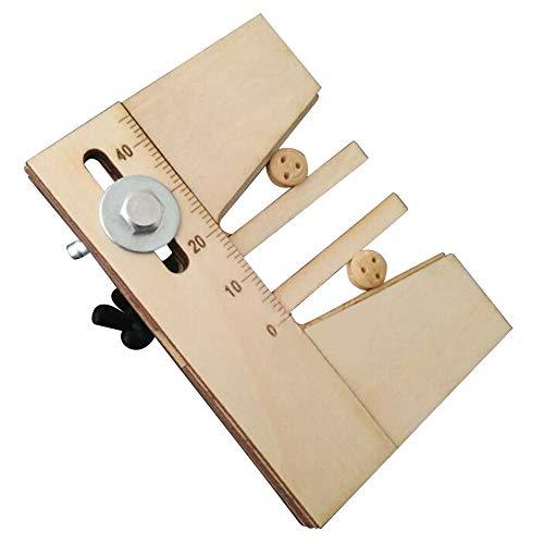 Festmacher-Werkzeug, praktisches Dead Eyes Fix Hand Holz Schiff Modell-Kit, DIY Herstellung Hilfswerkzeug für die Herstellung klassischer Segelschiff-Modelle aus Holz, nicht null, Holzfarbe, Free Size