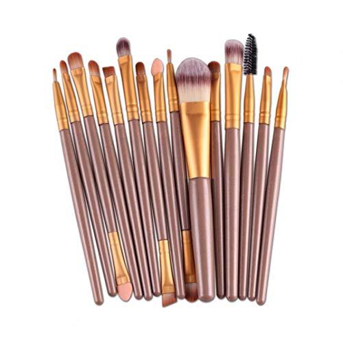 Make-up Kwasten Oogschaduw Borstel Set Professional 15pcs Make-up Borstels Premium Synthetic Foundation Brushes Blending Gezichtspoeder Blush Oogschaduw Eyeliner Make Up Brush Kits