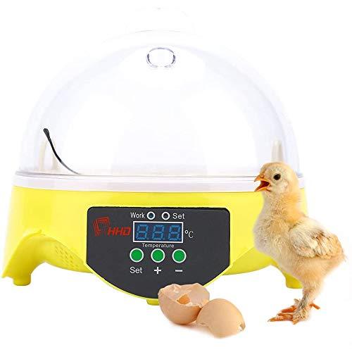 FCX-SHEARS Incubatrice Automatica da 7 Uova Controllo della Temperatura Digitale Hatchery per Pollame Pollo Anatra Quaglia l\'incubazione delle Uova Allevamento