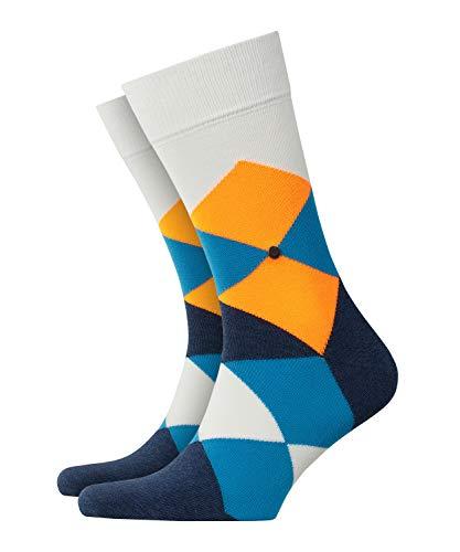 BURLINGTON Herren Socken Neon Clyde SO - Baumwollmischung, 1 Paar, Weiß (Off-White 2040), Größe: 40-46