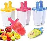 Stampi Per Ghiaccioli,Stampo Per Gelato, Stampo Ghiaccioli In Silicone 6 Pezzi Ghiaccioli Gelati Per Bambini Riutilizzabili Colorato Stampo di Popsicle Per DIY Lavabile In Lavastoviglie
