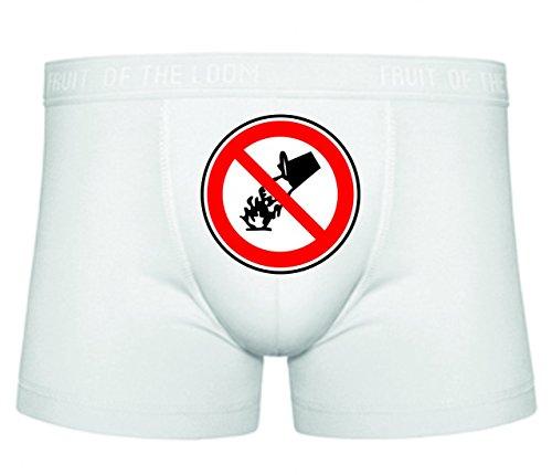 Druckerlebnis24 Boxershort Feuer- Zeichen- Wasser- Lagerfeuer- Symbol- Flamme- Camping S- XXL Sexy Unterhose Slip Shorts
