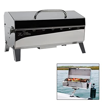 Kuuma Stow and Go Propane Tabletop and Mountable Grill - Stainless Steel Gas Grill with Foldable Legs | Great for Camping, Boating, Picnics, Barbeques & More |13,000 BTUs - (58130)