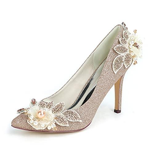 Zapatos de Novia para Mujeres, Elegante Zapatos de Novia de Tacón con...