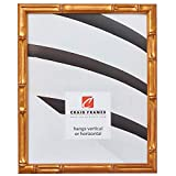 Craig Frames Vintage Gold Bamboo Composite Picture Frame, 11 by 14-Inch