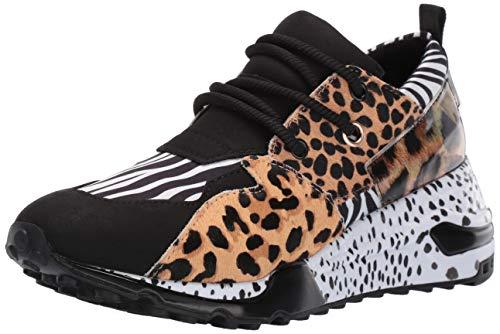 Steve Madden Women's Cliff Sneaker, Animal Multi, 8.5 M US