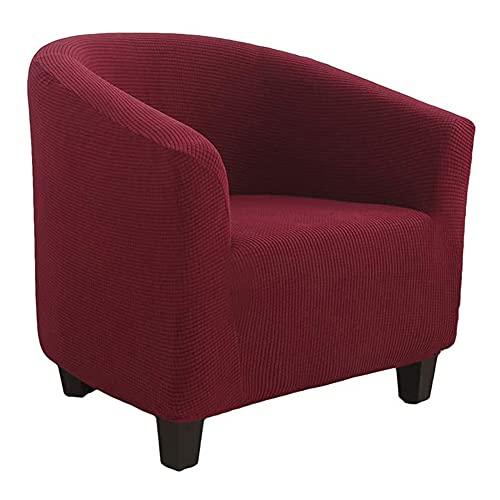TIUTIU Funda De Sillón Chesterfield Elásticas Lavable Cubre Sofá De 1 Plaza Universal Antideslizantes Cubierta Protector De Muebles para Butaca,Sofá,Chester 1 Plaza (Red)