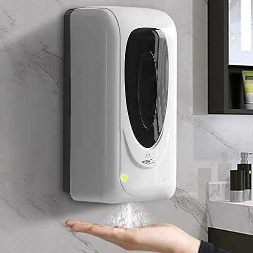 Jewaytec Automatischer Desinfektionsspender 1000ml ,Wandmontage Automatisch Seifenspender mit Sensor, Alkohol Sprühgerät Desinfektionsmittel Spender mit Sensor für Home Commerc